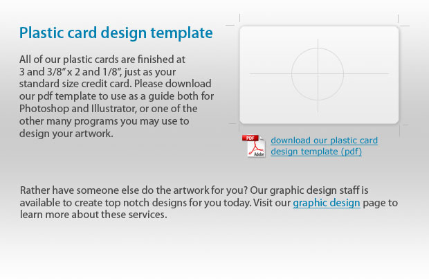 Plastic Card Printing Template